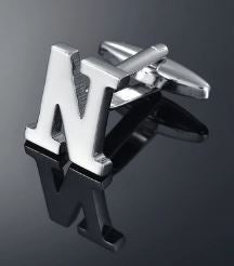 Single Letter N Cufflink - Crazy Cuffs