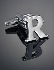 Single Letter R Cufflink - Crazy Cuffs