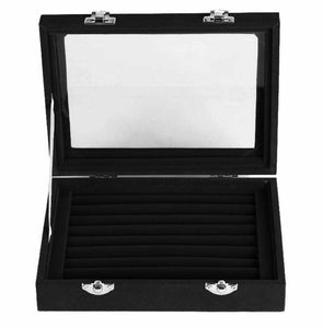 Black Cufflink Storage Box - Crazy Cuffs