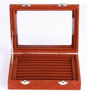 Coffee Colored Cufflink Storage Box - Crazy Cuffs