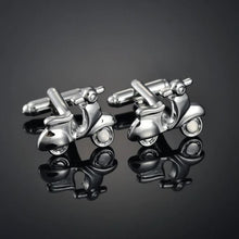 Load image into Gallery viewer, Silver Moped Cufflinks - Crazy Cuffs