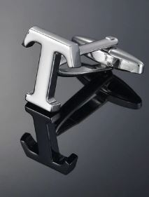 Single Letter T Cufflink - Crazy Cuffs