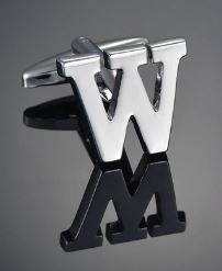 Single Letter W Cufflink - Crazy Cuffs