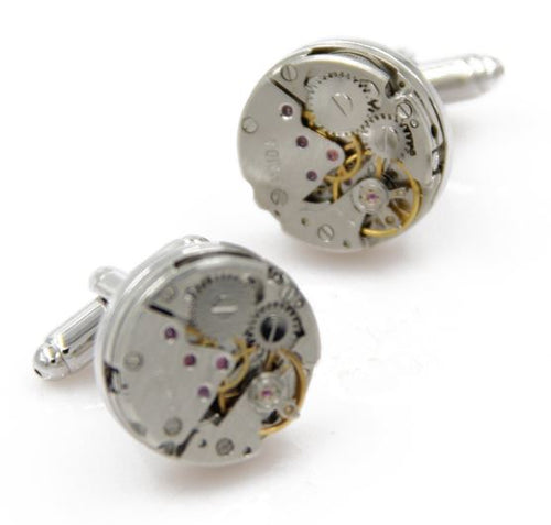 Frameless Round Watch Gear Cufflinks - Crazy Cuffs