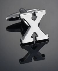 Single Letter X Cufflink - Crazy Cuffs