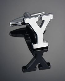 Single Letter Y Cufflink - Crazy Cuffs