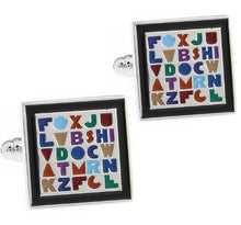 Load image into Gallery viewer, Alphabet Board Cufflinks - Crazy Cuffs