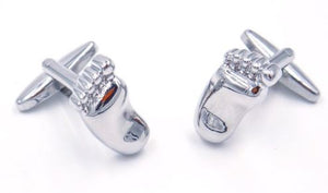 Silver Baby Feet Cufflinks - Crazy Cuffs