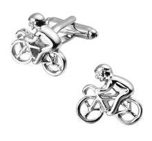 Load image into Gallery viewer, Cool Pair of Silver Bike Cufflinks - Crazy Cuffs