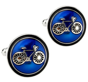 Blue Cycling Cufflinks - Crazy Cuffs