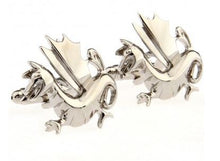 Load image into Gallery viewer, Silver Dragon Cufflinks - Crazy Cuffs