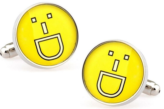 Happy Face Cufflinks - Crazy Cuffs