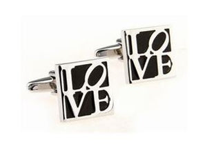 Square Love Cufflinks - Crazy Cuffs