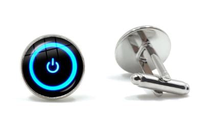 On / Off Switch Cufflinks - Crazy Cuffs