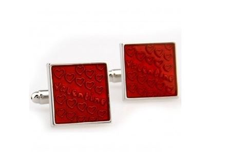 Vibrant Red Cufflinks - Crazy Cuffs