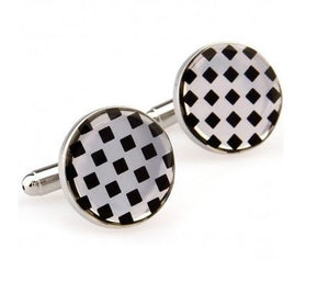 Stunning Gold and Black Cufflinks - Crazy Cuffs