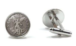 Saint Michael Cufflinks - Crazy Cuffs