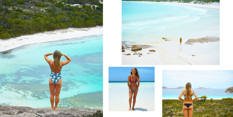 sustainable swimwear at Lucky bay, Thistle cove and Hellfire Bay in Cape Le Grand National Park