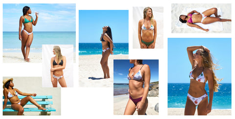 Australian designed mix and match reversible women's bikinis made from recycled ocean plastic