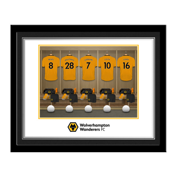 Wolverhampton Wanderers FC Dressing Room Photo Framed
