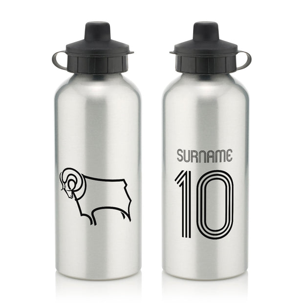 Derby County Retro Shirt Water Bottle