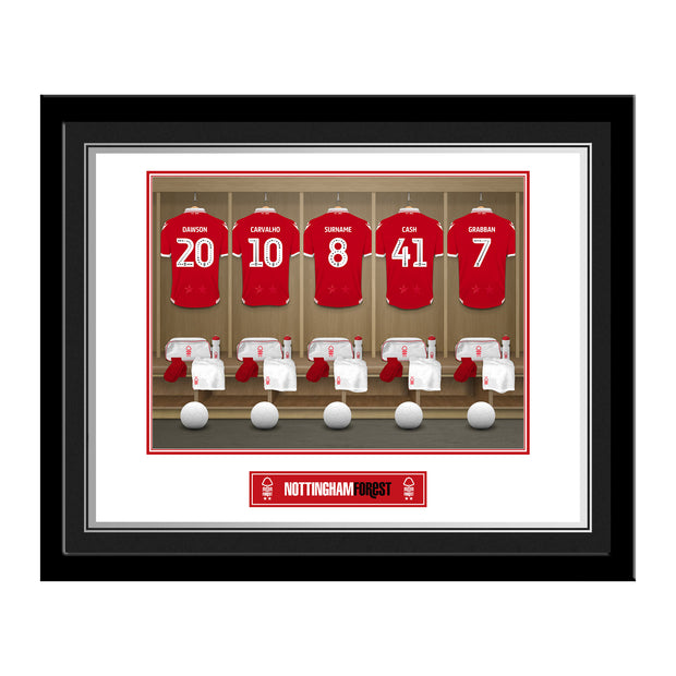 Nottingham Forest FC Dressing Room Photo Framed