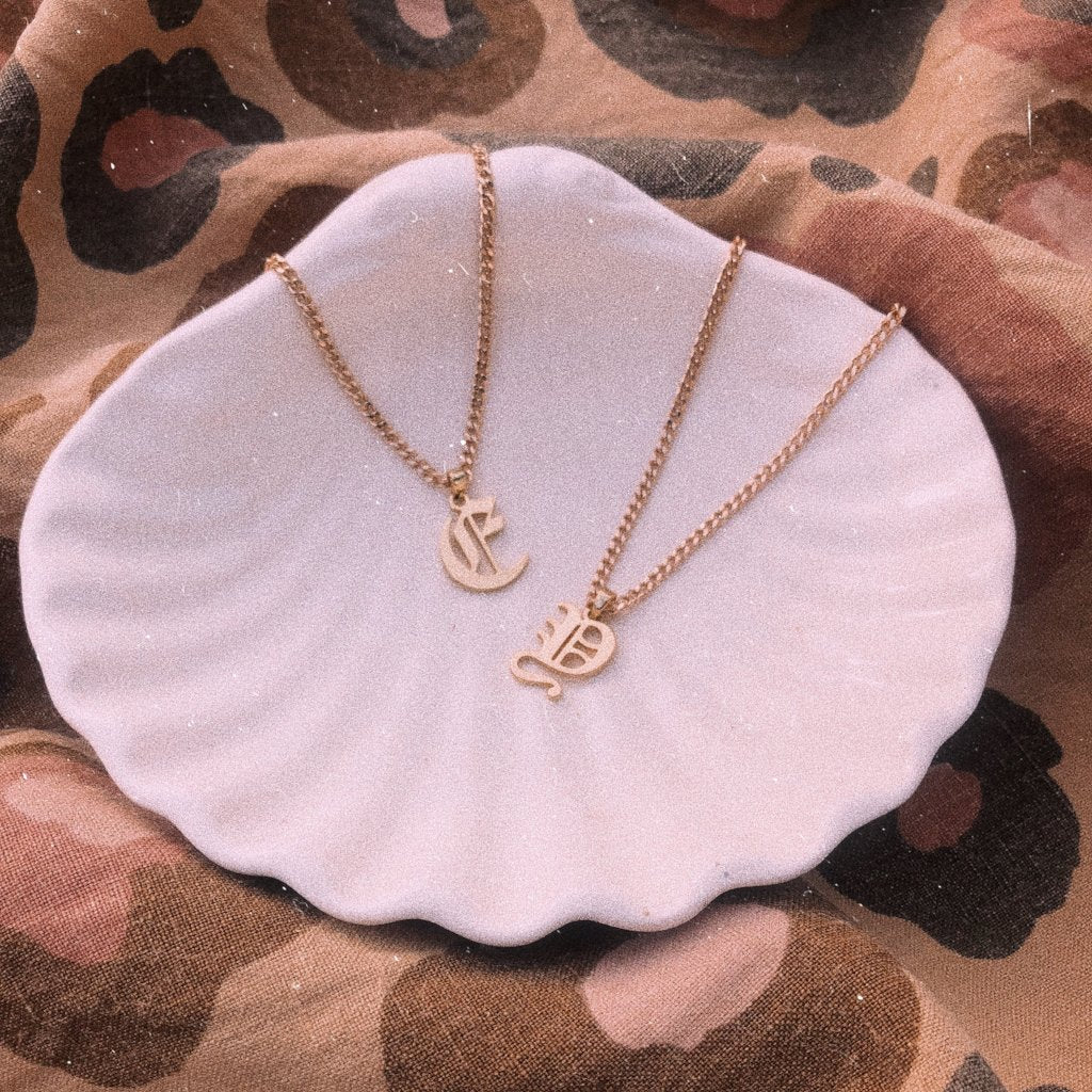 letter necklace - PREORDER