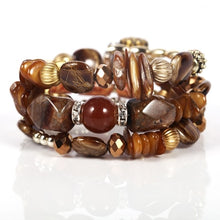 Load image into Gallery viewer, Multilayer Gem Bangles Lady