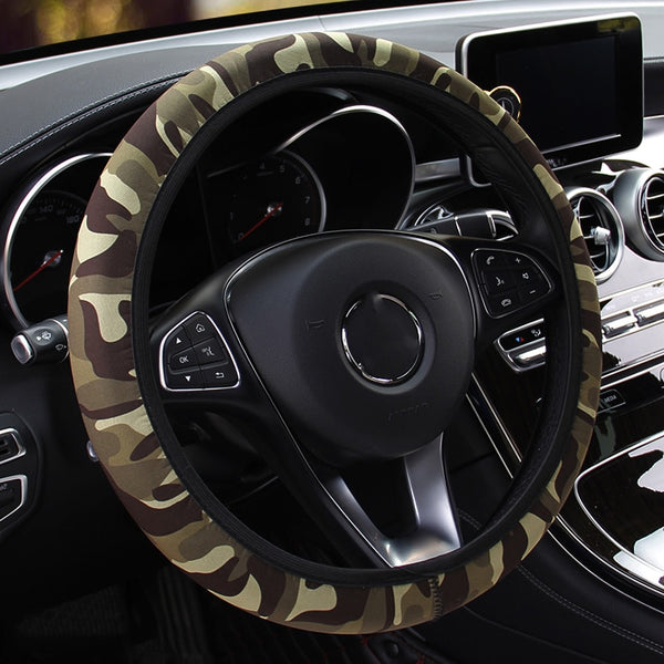 Anti-slip Camouflage Car Steering-wheel cover
