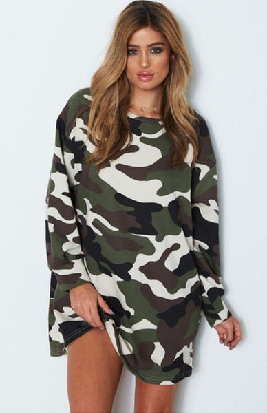 Camouflage chic dress