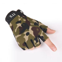 Tactical Military Camouflage European Gloves Combat Half Finger Outdoor Sport Non Slip Fitness Gym Riding Fingerless Gloves 45g