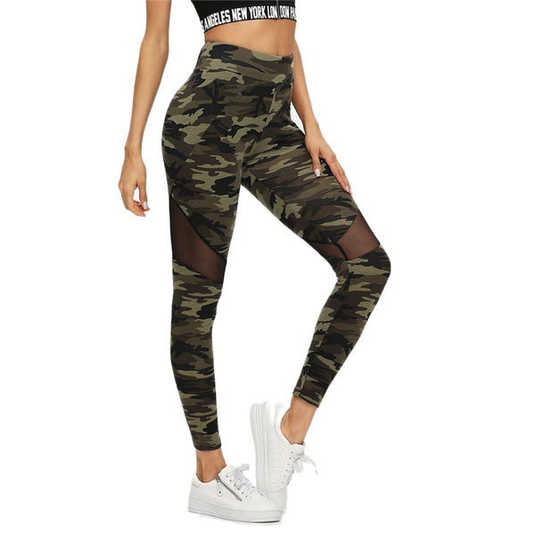 Sporting camouflage Crop Pants Women Leggings fitness