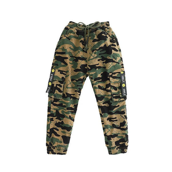 New Cotton Camouflage Pants For Kids Boys 4-10 Years