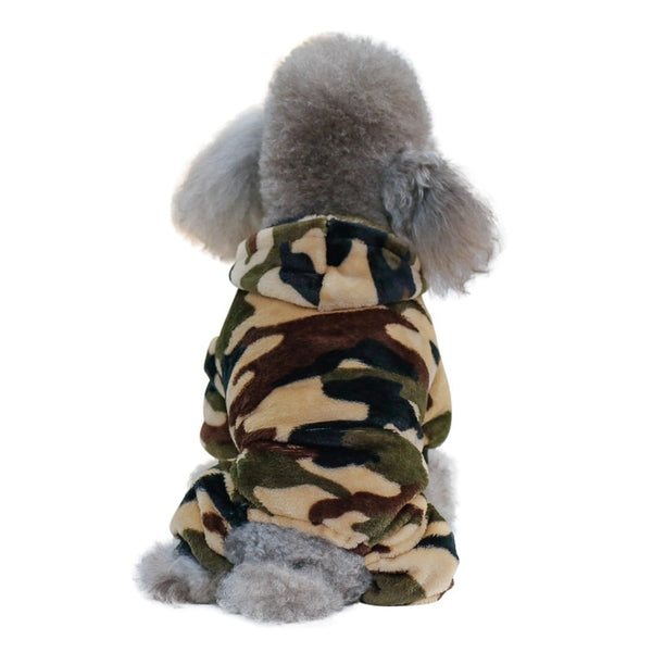 Warm Camouflage Dog Coat Jacket Winter Fleece Pet Dog Clothes Fashion for Chihuahua Small Large Dogs