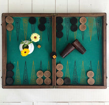 Load image into Gallery viewer, Franskt Vintage Jätte Backgammon / Schack