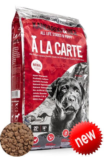 A La Carte Kangaroo & Rice, Dog Food, Crazy Dog Lady