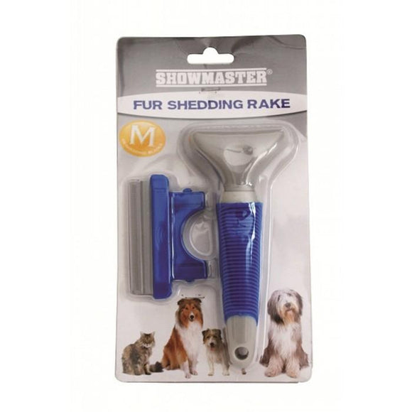Showmaster Fur Shedding Rake, Rake, Crazy Dog Lady