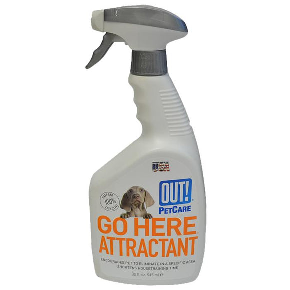 OUT! Petcare Go Here Attractant Training Spray, Training Spray, Crazy Dog Lady