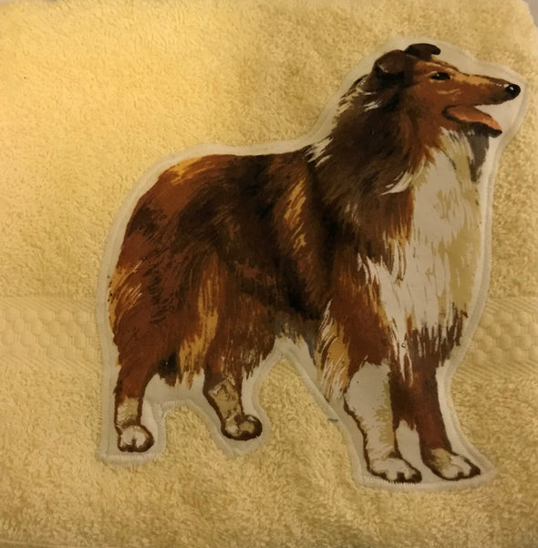 Hand Towel - Collie Rough, Towel, Crazy Dog Lady