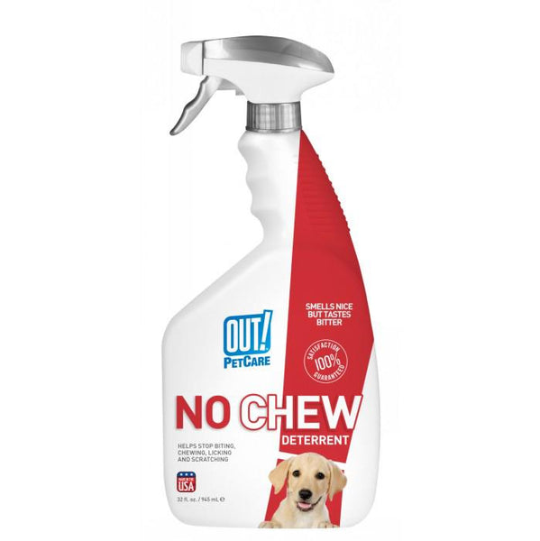 OUT! Petcare No Chew Deterrent Spray, Training Spray, Crazy Dog Lady