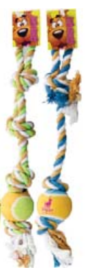 Scooby Doo Rope Toy with Tennis Ball, Rope Toy, Crazy Dog Lady