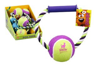 Scooby Doo Rope Toy with Ball and Handle, Toys, Crazy Dog Lady