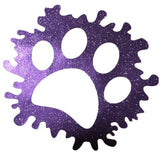 Stickers - Pawprint Splash, Sticker, Crazy Dog Lady