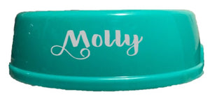 Bowls - including your Pets Name, Sticker, Crazy Dog Lady