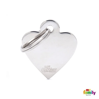My Family Basic Chrome Heart - Silver