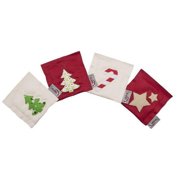 4 Cats Motif Cushion Catnip XMAS