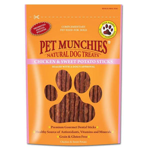 Pet Munchies Chicken & Sweet Potato Sticks 90g