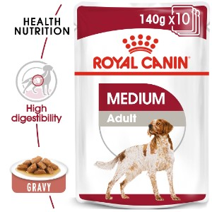Royal Canin Medium Adult in Gravy 10x140g