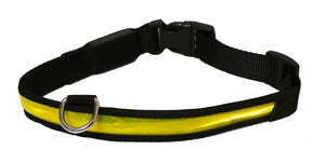 Rosewood Flashing Yellow Collar Large