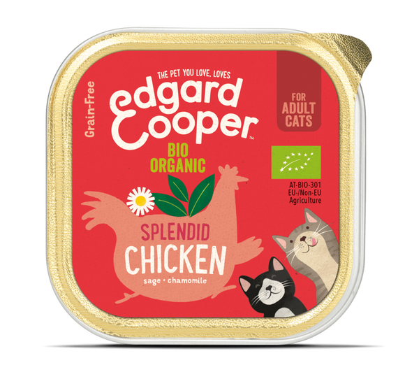 Edgard Cooper Organic Chicken Cup for Cats 19x85g